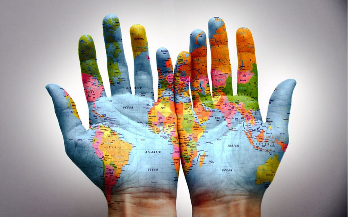Nearshoring Hands World Map