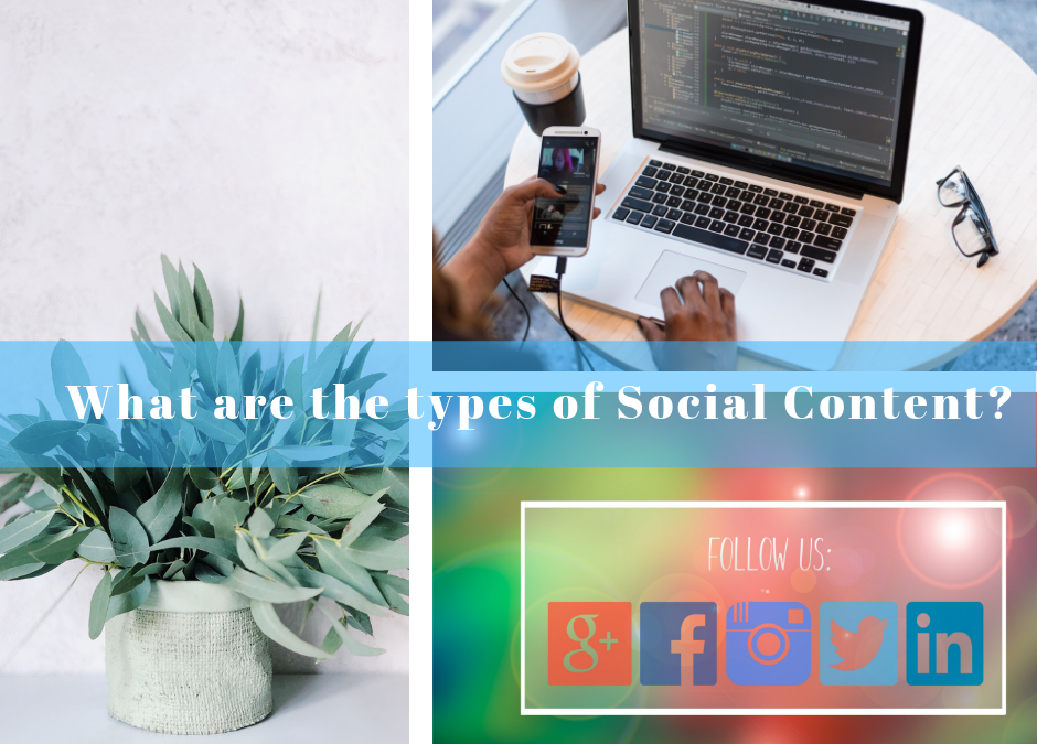 What are the types of Social Content?
